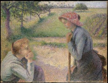 Two Young Peasant Women (1892) | Camille Pissarro | oil painting