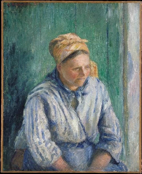 Washerwoman Study (1880) | Camille Pissarro | oil painting