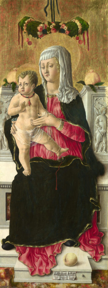 The Virgin and Child Enthroned | Giorgio Schiavone | oil painting