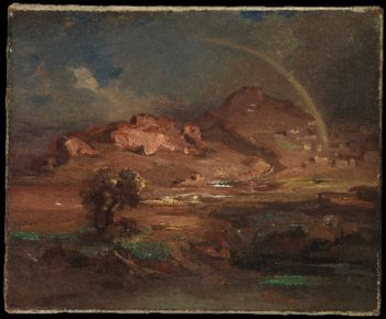 The Cemetery at Pronoia near Nauplia (ca 1841-47) | Carl Rottmann | oil painting