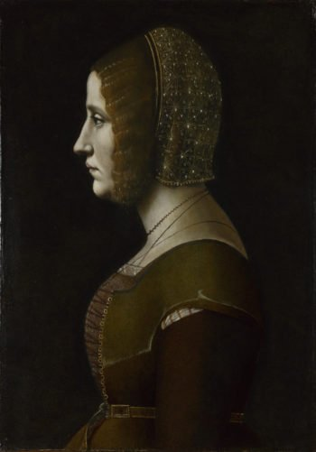 Profile Portrait of a Lady | Giovanni Ambrogio de Predis | oil painting