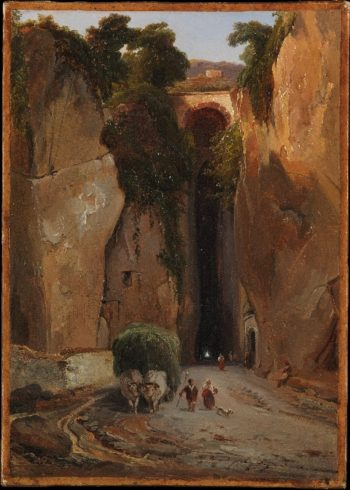 Entrance to the Grotto of Posilipo (prob ca 1821-25) | Charles Remond | oil painting