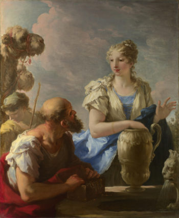 Rebecca at the Well | Giovanni Antonio Pellegrini | oil painting