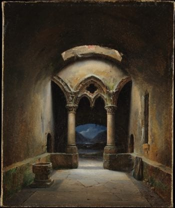 Gothic Chapel   Charles-Marie Bouton   oil painting