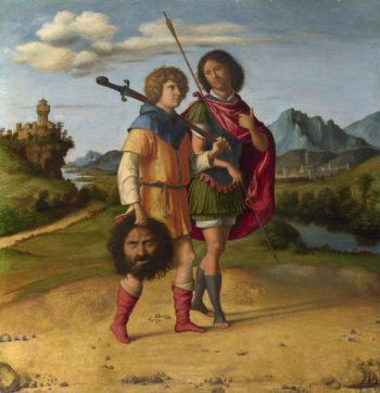 David and Jonathan   Giovanni Battista Cima da Conegliano   oil painting