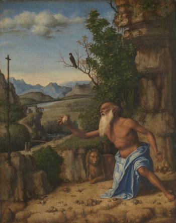 Saint Jerome in a Landscape   Giovanni Battista Cima da Conegliano   oil painting