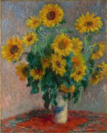 Bouquet of Sunflowers (1881) | Claude Monet | oil painting