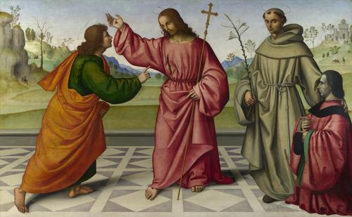 The Incredulity of Saint Thomas | Giovanni Battista da Faenza | oil painting