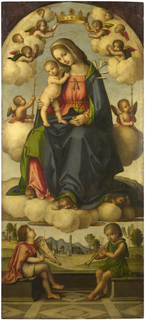 The Virgin and Child in Glory | Giovanni Battista da Faenza | oil painting