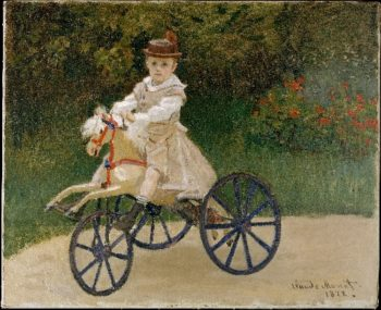 Jean Monet on His Hobby Horse (1872) | Claude Monet | oil painting