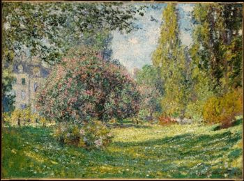 Landscape The Parc Monceau (1876) | Claude Monet | oil painting