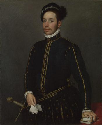 Portrait of a Gentleman (Il Gentile Cavaliere) | Giovanni Battista Moroni | oil painting
