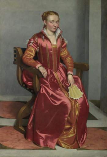 Portrait of a Lady (La Dama in Rosso) | Giovanni Battista Moroni | oil painting