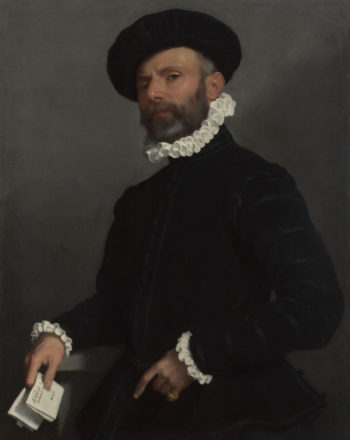 Portrait of a Man holding a Letter (L'Avvocato) | Giovanni Battista Moroni | oil painting