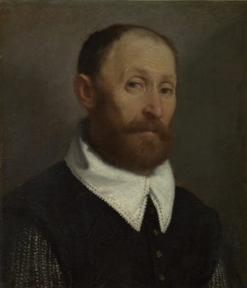 Portrait of a Man with Raised Eyebrows | Giovanni Battista Moroni | oil painting