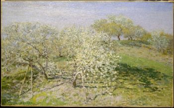 Spring (Fruit Trees in Bloom) (1873) | Claude Monet | oil painting