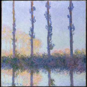 The Four Trees (1891) | Claude Monet | oil painting