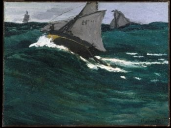 The Green Wave (after 1865) | Claude Monet | oil painting