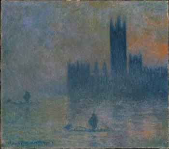 The Houses of Parliament (Effect of Fog) (1903-04) | Claude Monet | oil painting