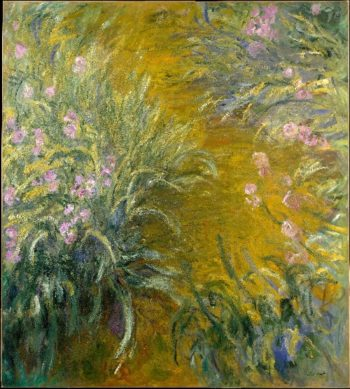The Path through the Irises (1914-17) | Claude Monet | oil painting