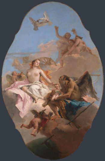 An Allegory with Venus and Time | Giovanni Battista Tiepolo | oil painting