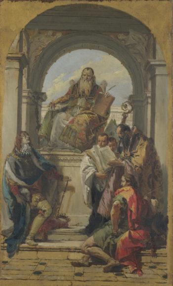 Four Saints | Giovanni Battista Tiepolo | oil painting
