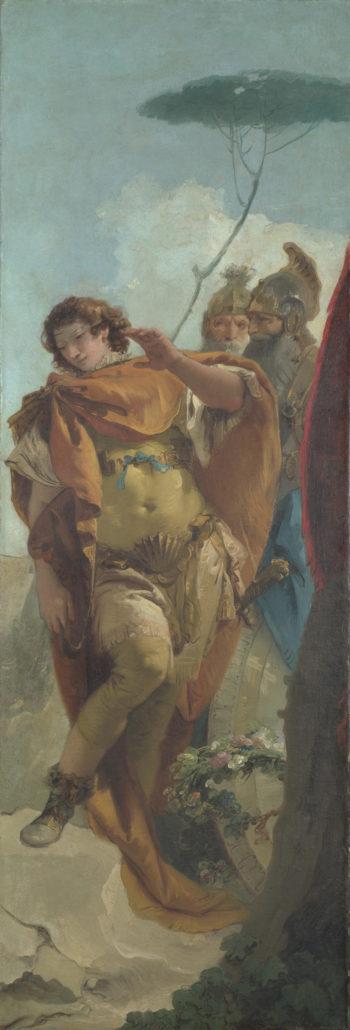 Rinaldo turning in Shame from the Magic Shield | Giovanni Battista Tiepolo | oil painting
