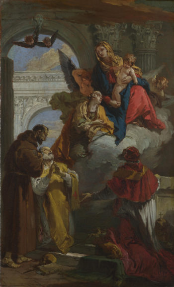 The Virgin and Child appearing to a Group of Saints | Giovanni Battista Tiepolo | oil painting