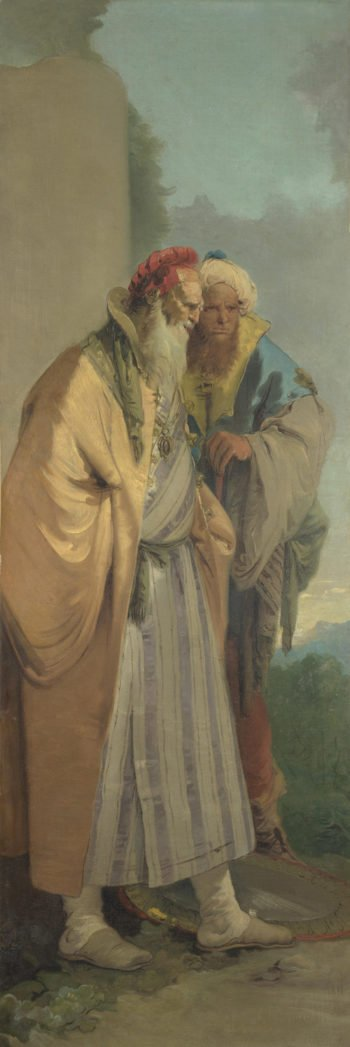 Two Men in Oriental Costume | Giovanni Battista Tiepolo | oil painting