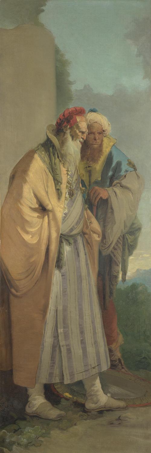 Two Men in Oriental Costume | Giovanni Battista Tiepolo | oil painting