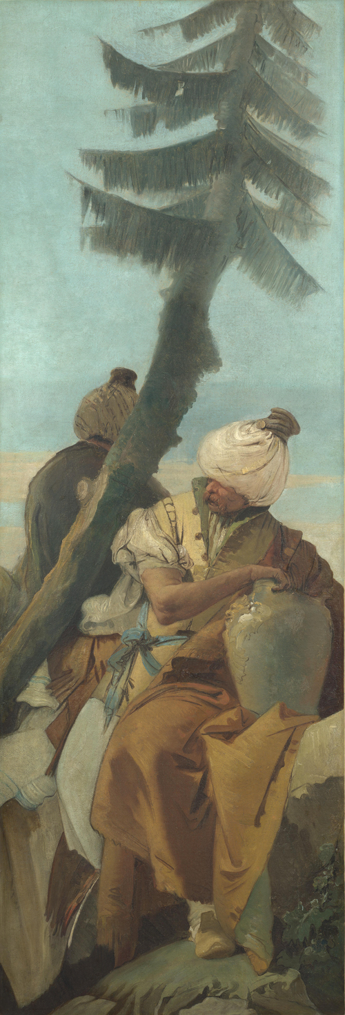 Two Orientals seated under a Tree | Giovanni Battista Tiepolo | oil painting