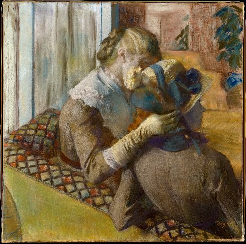 At the Milliners (1881) | Edgar Degas | oil painting