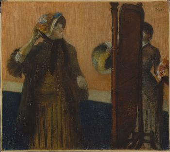 At the Milliners (1882) | Edgar Degas | oil painting