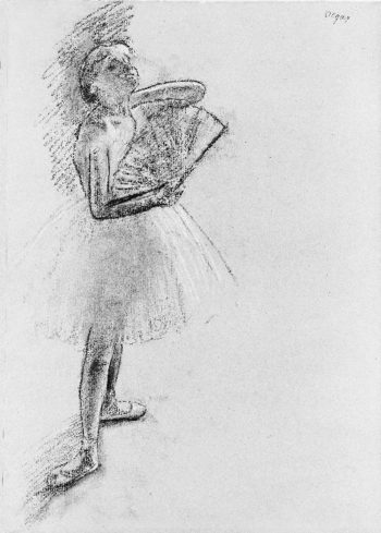 Dancer with a Fan (ca 1880) | Edgar Degas | oil painting