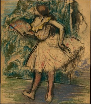 Dancer with a Fan (ca 1890-95) | Edgar Degas | oil painting