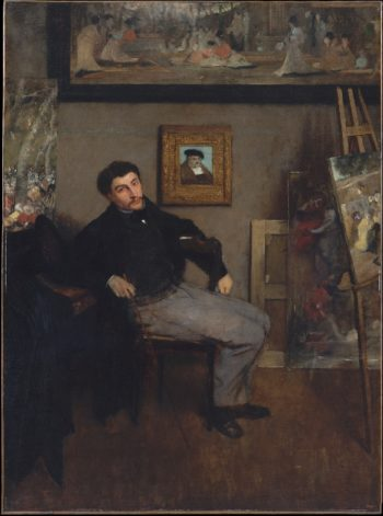James-Jacques-Joseph Tissot (ca 1867-68) | Edgar Degas | oil painting