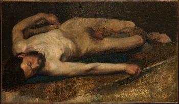 Male Nude (1856) | Edgar Degas | oil painting
