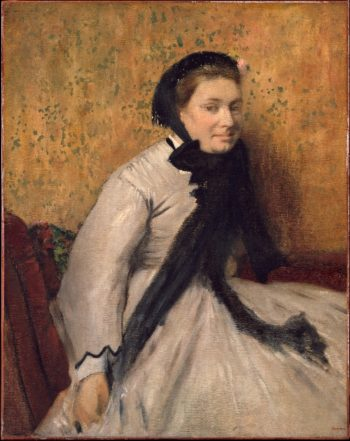 Portrait of a Woman in Gray (ca 1865) | Edgar Degas | oil painting