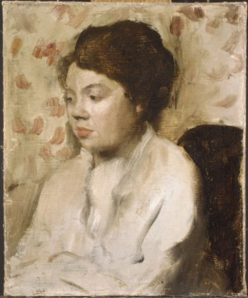 Portrait of a Young Woman (ca 1885) | Edgar Degas | oil painting