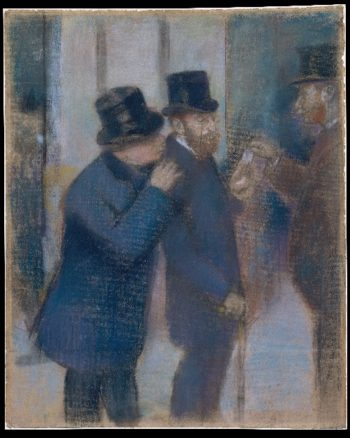 Portraits at the Stock Exchange (ca 1878-79) | Edgar Degas | oil painting