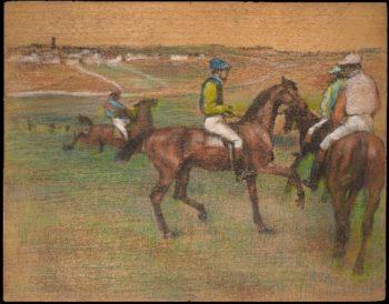 Race Horses (1885-88) | Edgar Degas | oil painting