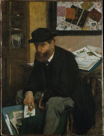 The Collector of Prints (1866) | Edgar Degas | oil painting