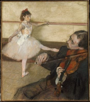 The Dance Lesson (ca 1879) | Edgar Degas | oil painting