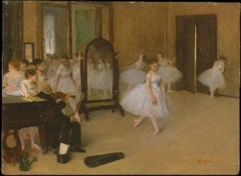 The Dancing Class (ca 1870) | Edgar Degas | oil painting