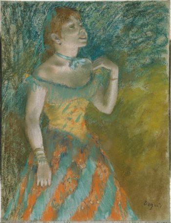 The Singer in Green (ca 1884) | Edgar Degas | oil painting