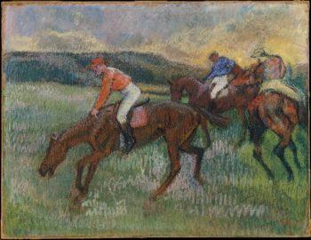 Three Jockeys (ca 1900) | Edgar Degas | oil painting