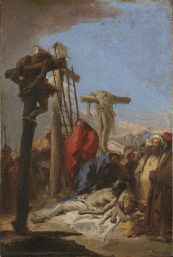 The Lamentation at the Foot of the Cross (1) | Giovanni Domenico Tiepolo | oil painting