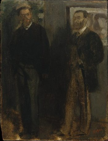 Two Men (ca 1865-69) | Edgar Degas | oil painting