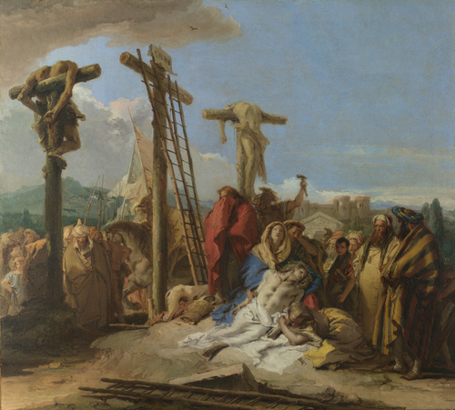 The Lamentation at the Foot of the Cross | Giovanni Domenico Tiepolo | oil painting