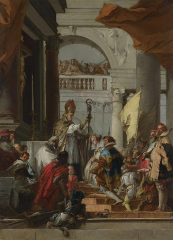 The Marriage of Frederick Barbarossa | Giovanni Domenico Tiepolo | oil painting
